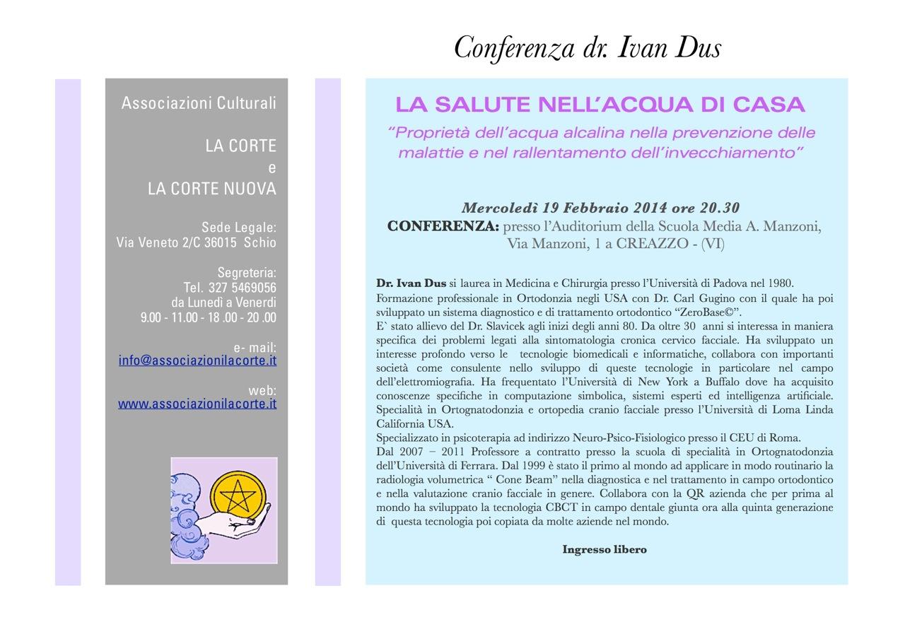 Conferenza dott. Ivan Dus